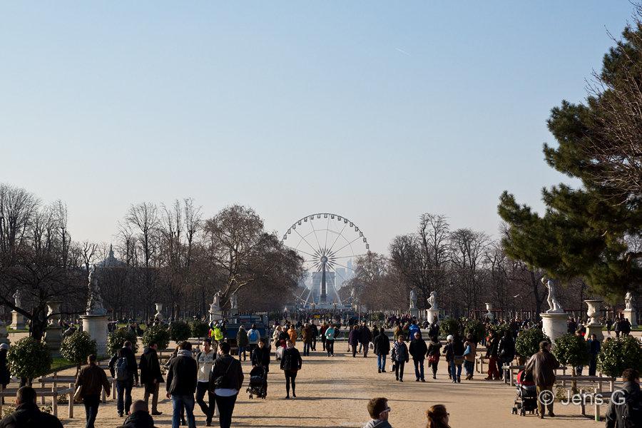Tuilleri haven mellem Concorde og Louvre