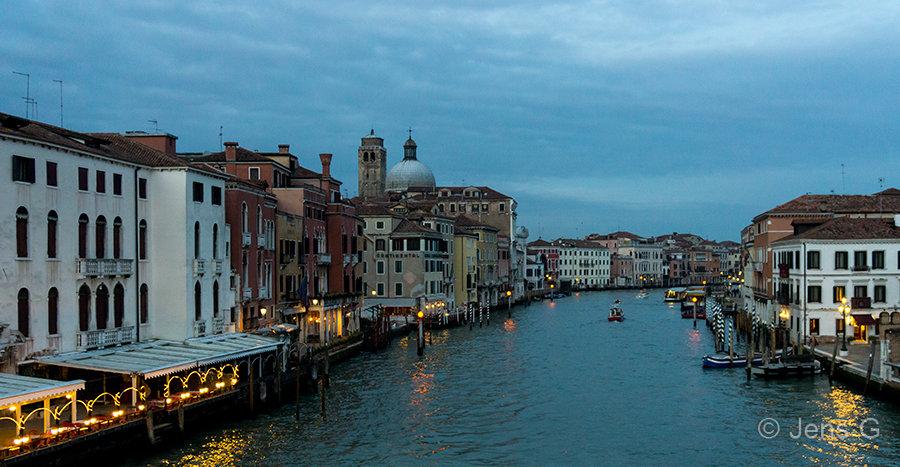 Canal Grande i Venedig sidst på dagen